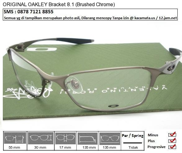 OAKLEY Titanium Bracket 8.1 Brushed Chrome