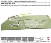 OAKLEY Capacitor Brushed Chrome Livestrong Custom 52