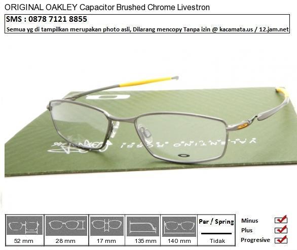 OAKLEY Capacitor Brushed Chrome Livestrong Custom 52