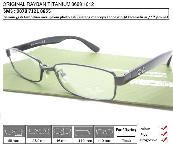 RAYBAN TITANIUM 8689 1012