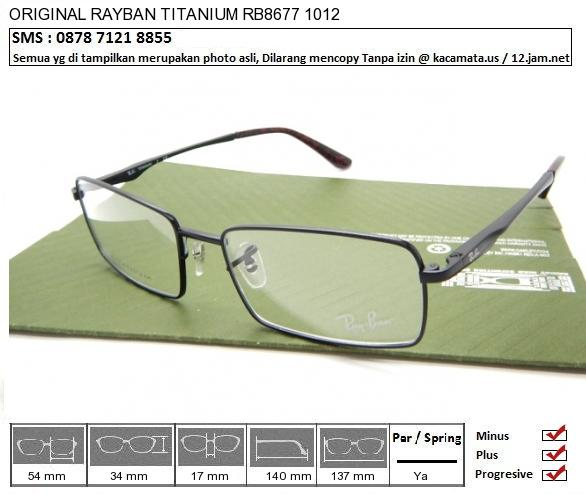 RAYBAN TITANIUM RB8677 1012
