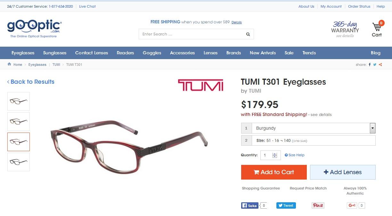 TUMI  T301  Burgundy