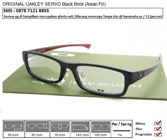 OAKLEY SERVO Black Brick (Asian Fit)