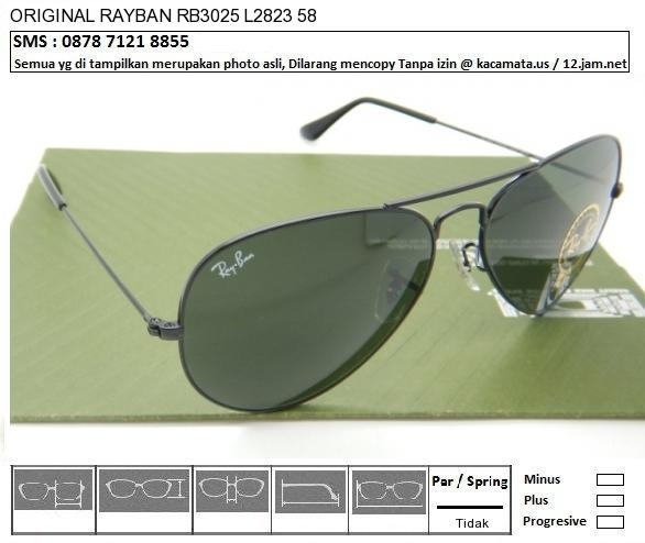 RAYBAN RB3025 L2823 size 58