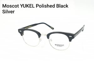 Moscot Yukel Polished Black Silver